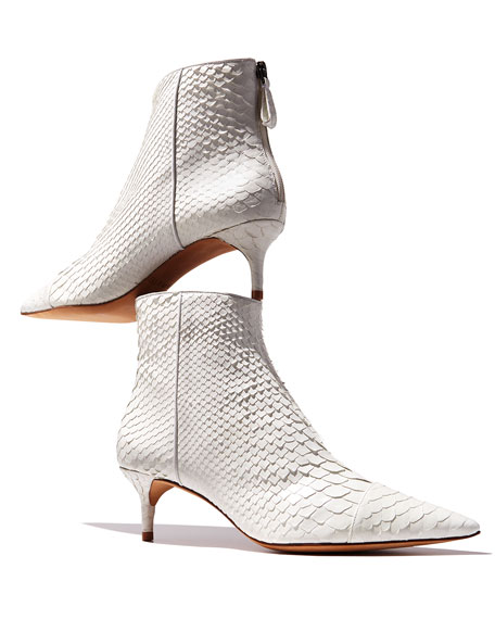 Kittie Point-Toe Python Boot