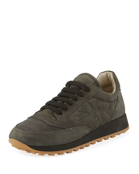 Quilted Leather Trainer Sneaker