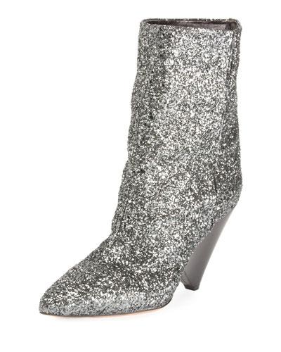 Luliana Glitter Bootie