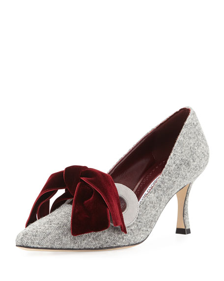 Image 1 of 1: Serba Wool Bow-Tie Pump