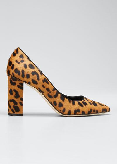 Tucciototo Leopard-Print Calf Hair Pump