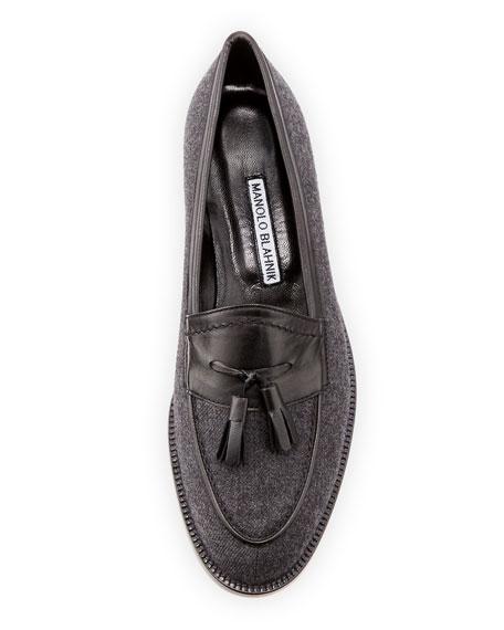 Aldenabi Wool Tassel Loafer