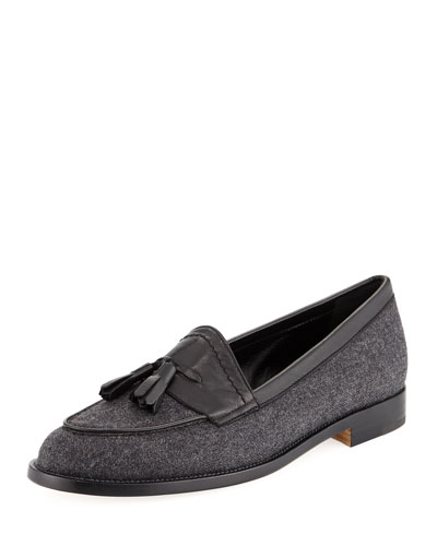 Aldenabi Wool Tassel Loafer