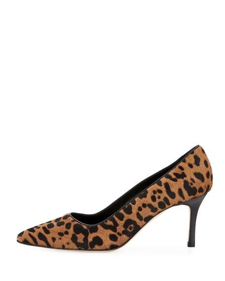 BB Leopard-Print Calf Hair Pump