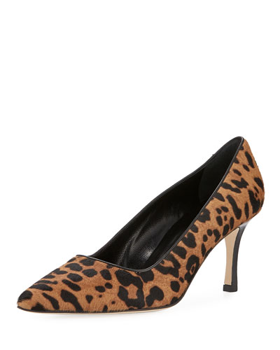 BB Leopard-Print Calf Hair Pump