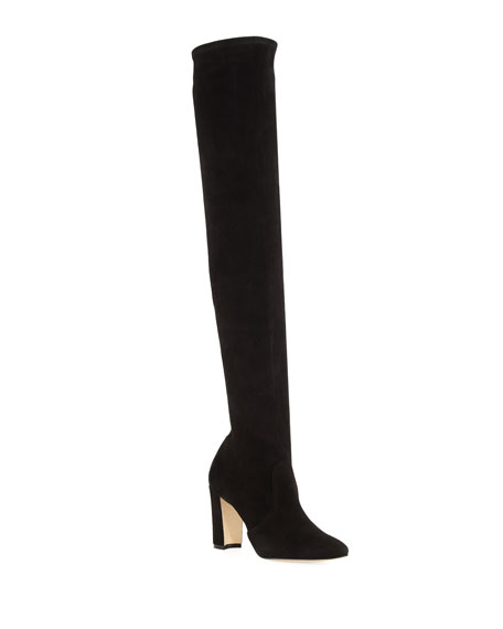 Manolo Blahnik Suede Pascalla Boots in .
