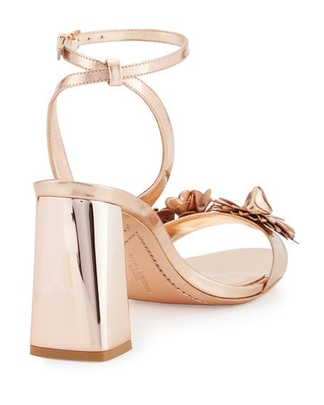 d358b9578 Sophia Webster Lilico Floral Leather Block-Heel Sandal