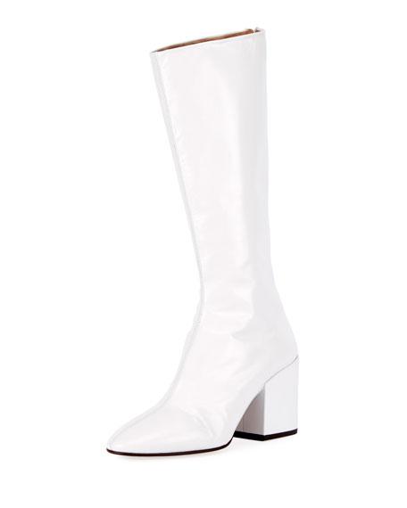 discount excellent Dries Van Noten Knee-High Leather Boots for sale cZMrkmZ5U