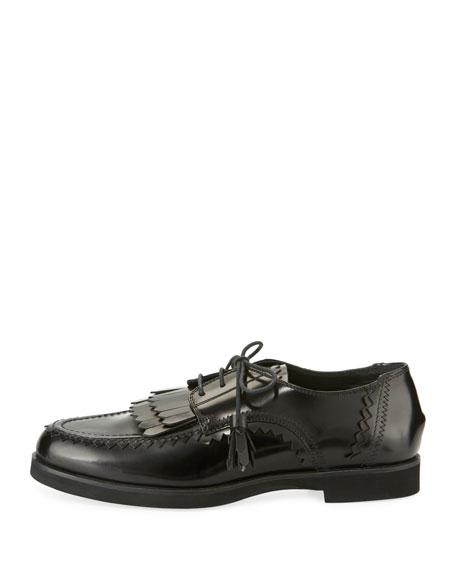 Patent Kiltie Lace-Up Oxford