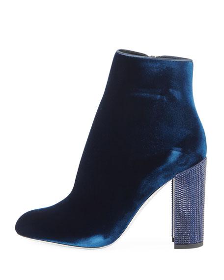 Velvet Crystal-Heel Bootie
