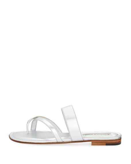 Susa Crisscross Leather Flat Sandal