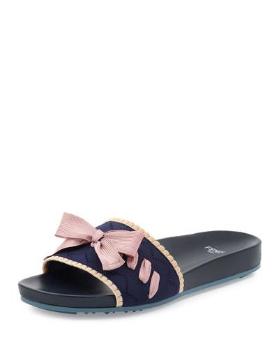 Knit Bow-Tie Sandal Slide