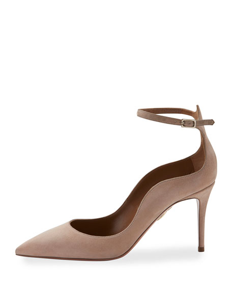 Dolce Vita Suede 85mm Pump, Light Beige