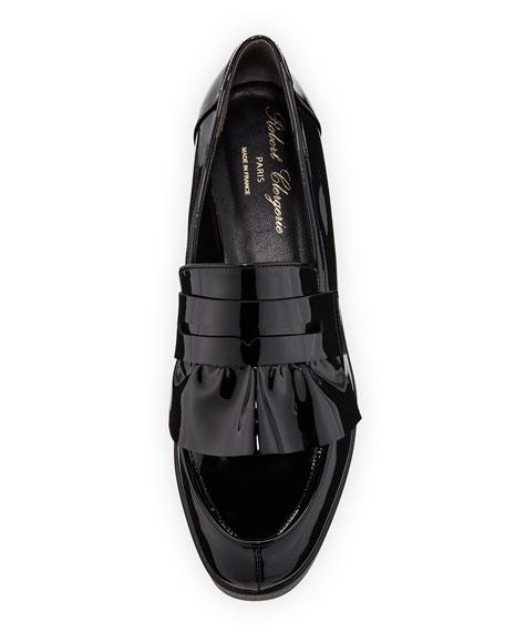 Verni Patent Leather Platform Loafer