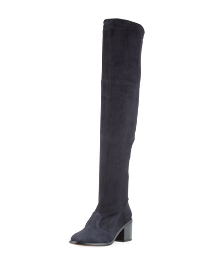 Mepe Stretch-Suede Tall Boot