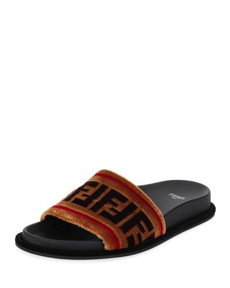 FF Velvet Flat Slide Sandal