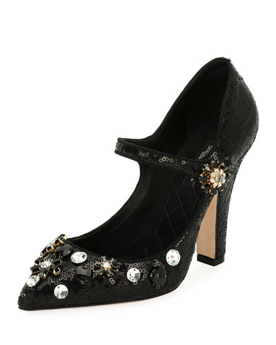 Bellucci Sequined Mary Jane Pump