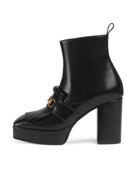 Novel Platform Kiltie Ankle Boot