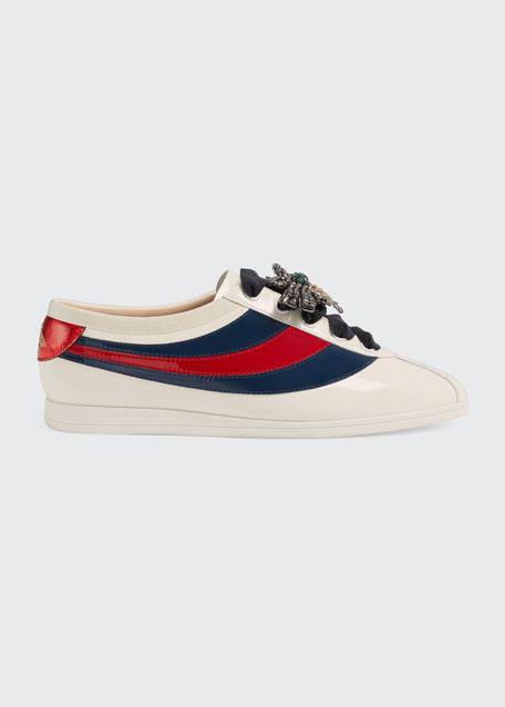 Off-White Patent Sylvie Web Falacer Sneakers