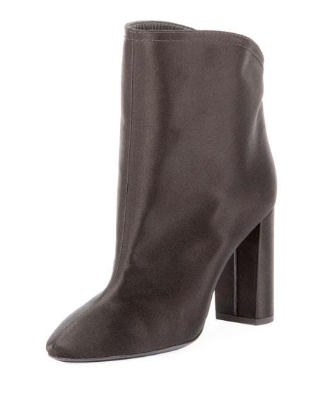 Satin Block-Heel 95mm Boot