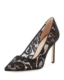BB Lace 90mm Pointed-Toe Pump