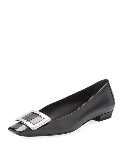 Patent Pilgrim Low-Heel Pumps