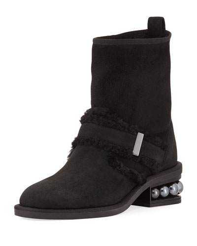 Casati Pearly Shearling Biker Boot