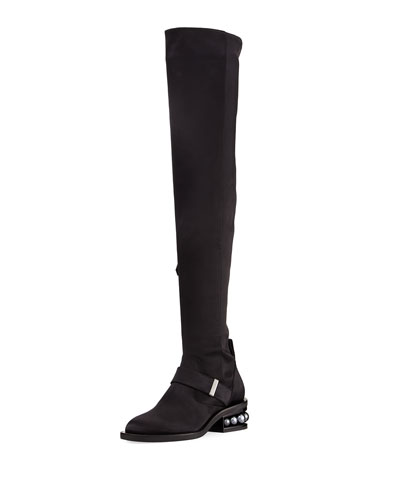 Casati Satin Over-the-Knee Boot