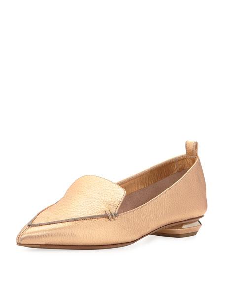 Nicholas Kirkwood Beya Metallic Leather Loafer
