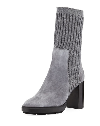 Imogen Ribbed Sweater Boot