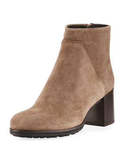 Everett Suede Block-Heel Boot