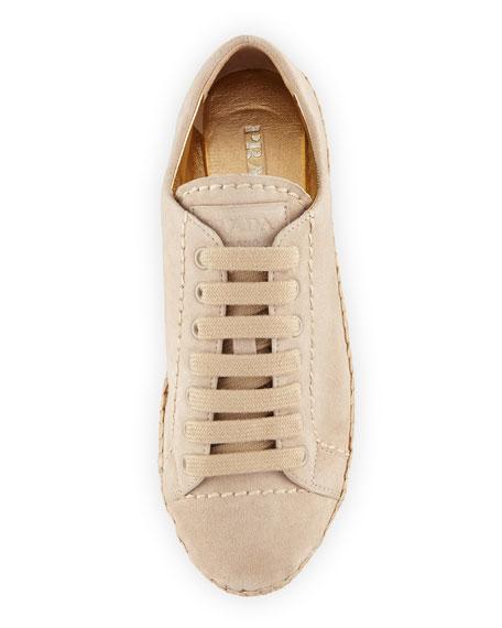 Suede Platform Espadrille Sneaker