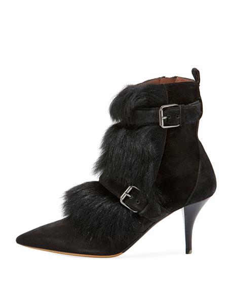 Zina Suede Bootie with Fur Trim