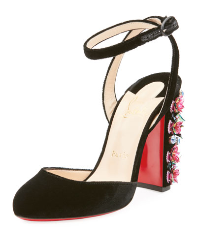Madona Floral Red Sole Pump
