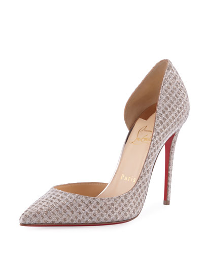 christian louboutin wedding shoes satin almond toe with swarovski crystal
