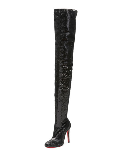 Christian Louboutin Louise X Red Sole Over-The-Knee Boot