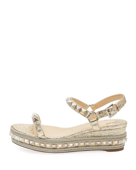 Pyraclou Spiked Wedge Red Sole Sandal
