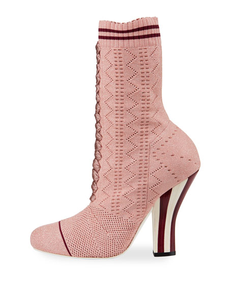 Rockoko Metallic Knit 105mm Bootie