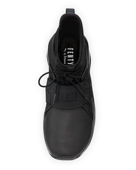 The Trainer Hi Sneaker, Black