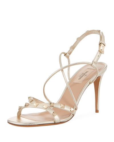 85mm Free Rockstud Crisscross Stiletto Sandal