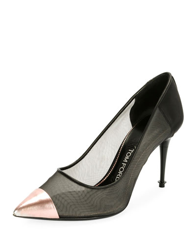 Mix Mesh Cap-Toe Pump