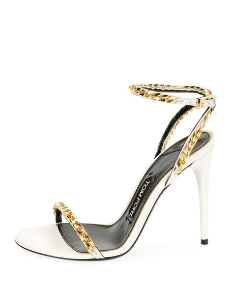 Curb-Chain Ankle 105mm Sandal