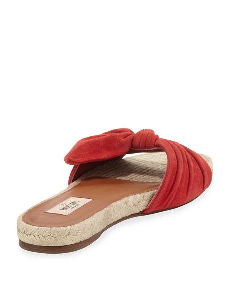 c28919b3bb Valentino Garavani Tropical Bow Espadrille Slide Sandal