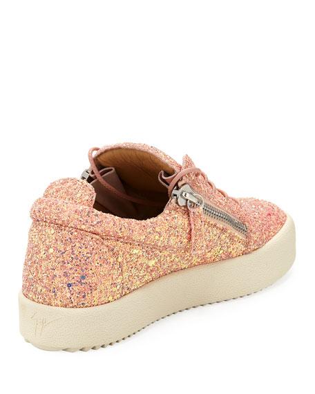 May Coarse Glitter Platform Sneaker