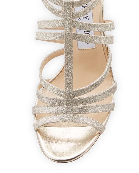 546087d8f04 Jimmy Choo Selina Glitter Strappy Sandal