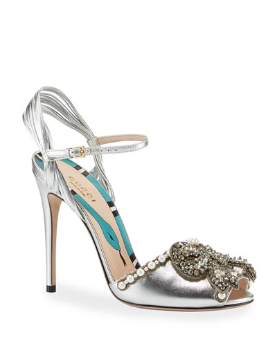 e4afc090268 110mm Allie Bow Sandal Quick Look. Gucci