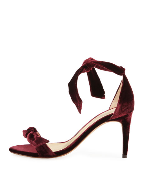 Clarita Velvet 75mm Sandal