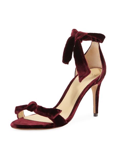 Clarita Velvet 75mm Sandal by Alexandre Birman
