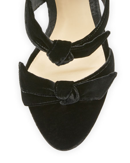 Mary Velvet 100mm Sandal