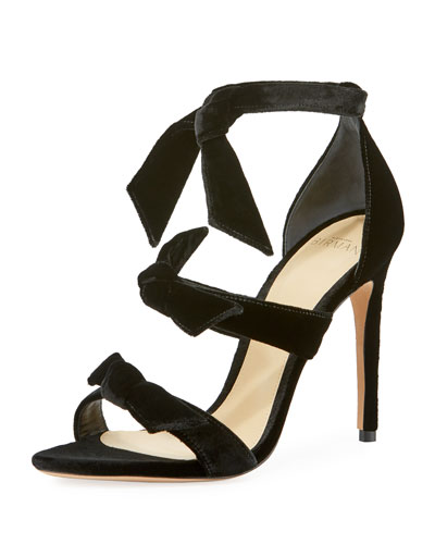 Mary Velvet 100mm Sandal